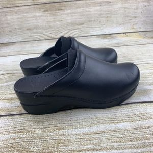 Dansko Slip On Slides Mules Black Nursing Comfort